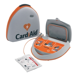 Hjärtstartare AED CardiAid halvautomatisk, svenskt tal
