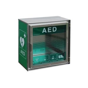 Skäp i stål, utomhus for AED hjärtstartare