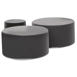 CALL LOUNGE PUFF W/TABLE LTH 45CM BLK