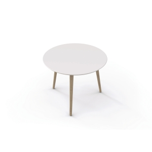 FUMAC LOUNGE TABLE 55CM WH W/UNTREATED