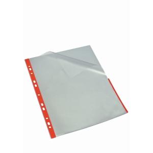 Signalficka Bantex, A4, 80 my, röd