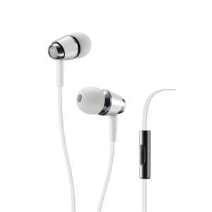 Hörlurar Cellularline Pop, in-ear, vita