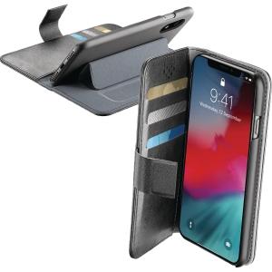 Mobilfodral Cellularline Book Agenda, till iPhone XR, svart