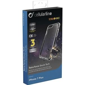 Skal Cellularline Tetra Force Iphone 7/8+ svart