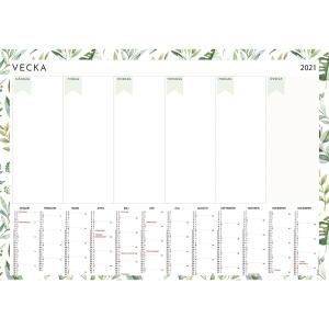 Kalender Burde 91 2485 Veckoplan Whiteboard 995 x 695 mm