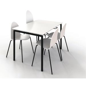 Matsalsbord Zignal med stolsupphängning 120 x 80 cm vit
