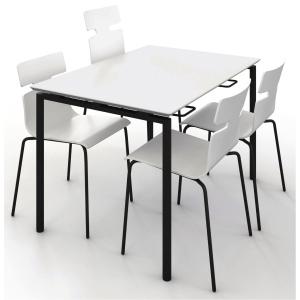 Matsalsbord Zignal 180 x 80 cm vit