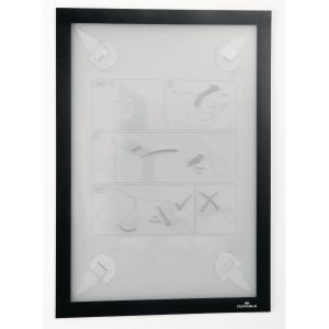 Inforam med selvhäftande fästena Durable Duraframe, A4, svart