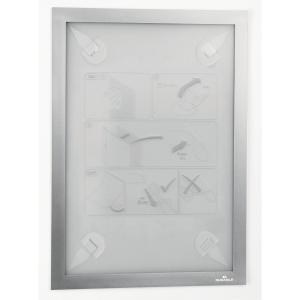 Inforam med selvhäftande fästena Durable Duraframe, A4, silvergrå