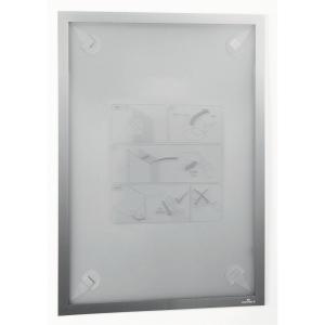 Inforam med selvhäftande fästena Durable Duraframe, A3, silvergrå