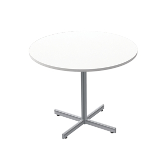 LANAB OFFICELINE TABLE 90H72 WH W/SILV