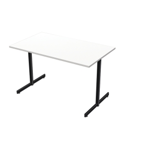 LANAB OFFICELINE TABLE 120X70 WH W/BLK