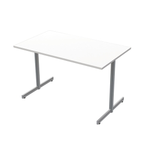 LANAB OFFICELINE TABLE 120X70 WH SILVGRY