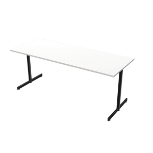 LANAB OFFICELINE TABLE 180X70 WH W/BLK