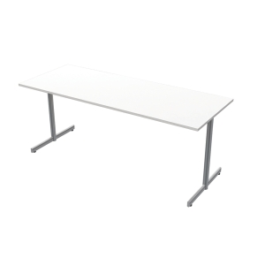 LANAB OFFICELINE TABLE 180X70 WH SILVGRY