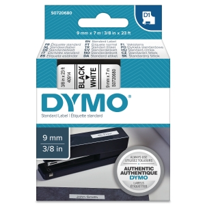 DYMO D1 LABELLING TAPE 7M X 9MM - BLACK ON WHITE