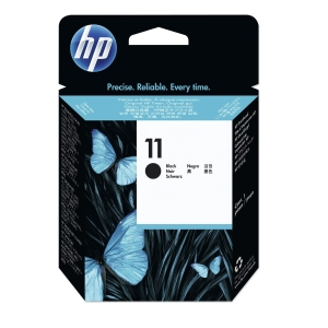 Blækpatron printhoveder HP 11 C4810A sort