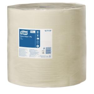 Industrirulle Tork W1 Basic 1-lager gul 127107