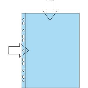 Plastficka Lyreco, med hålning, A4, 110 my, förp. med 100 st