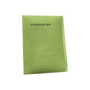 Samlingsmapp/-pärm med klaff, A4, grön
