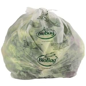 Sopsäck komposterbar 1-skikt 125 liter transparent 10 st/rulle
