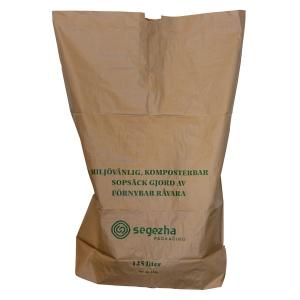 Papperssäck 2-lager 125 liter brun 50 st/pack