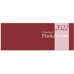 KALENDER BURDE 91 1360 TVÅVECKORS PLANKALENDER ALMANACKA HÄFTAD 510X95MM