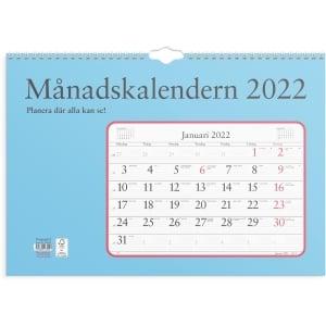 KALENDER BURDE 91 1700 MÅNADSKALENDERN ALMANACKA SPIRALBUNDEN 430X300MM