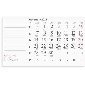Kalender Burde 91 5280 Månadsblock 150 x 90 mm
