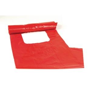 Plastsäck för optisk sortering 30 liter röd 25 st/rulle