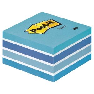 Notisblock Post-it, 76 x 76mm, pastellblått