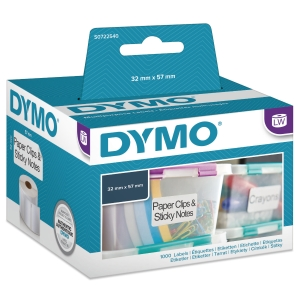 UNIVERSALETIKETT DYMO 11354 57X32 MM 1000 ST/ASK