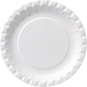 Papperstallrik Duni 128060 15 cm vit 100 st/påse