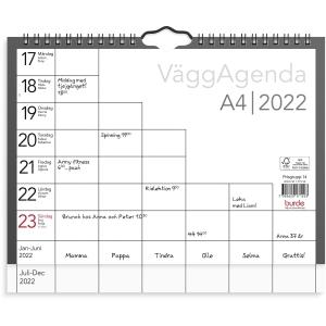 Kalender Burde 91 1715 Väggagenda A4