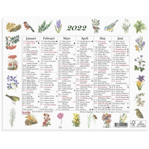 Kalender Burde 91 5045 Lilla Naturalmanackan 245 x 190 mm