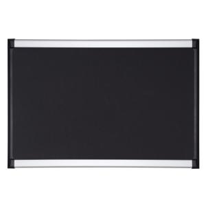 Anslagstavla Bi-Office Provision Softouch, svart skumgummiyta, 60 x 90 cm