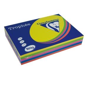Papper Trophée 1713 A4 160g 5 starka färger 5X50 ark/bunt