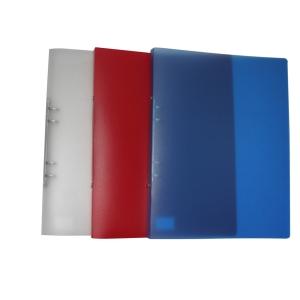 Ringpärm Specialplast, 4 ringar, 20 mm, A4, kristall röd