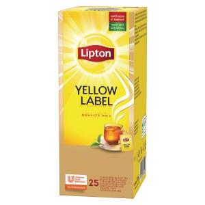 Te Lipton påsar yellow label 25 påsar/paket