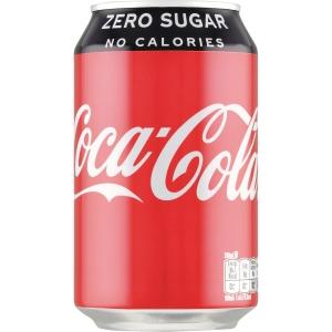Coca Cola zero sugar 33 cl burk kartong med 24 st - priset är inkl. pant