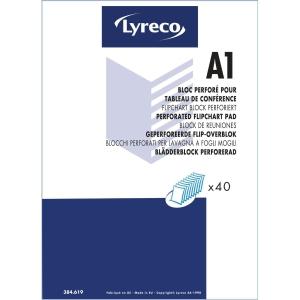 BLÄDDERBLOCK OLINJERATERAT LYRECO A1 40 ARK 5 BLOCK/FP