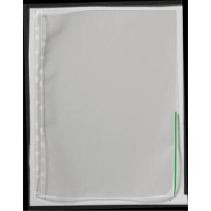 Signalficka, 100 my, grön kant, förp. med 100 st