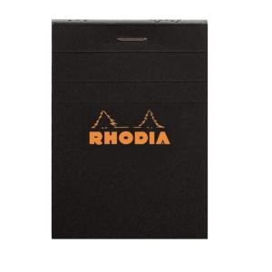 Anteckningsblock Rhodia linjerat, A7, 80 ark, 80 g, svart