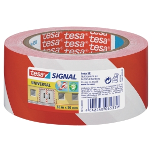 Varningstejp Tesa 58134 röd/vit 50mm x 60m