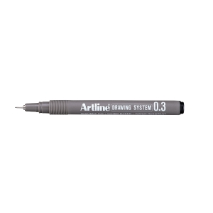 Fineliner Artline Drawing Pen EK233, 0,3 mm, svart