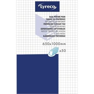 Blädderblock Lyreco, rutat, 65 x 100 cm, 70 g, förp. med 5 st