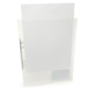 Ringpärm med ficka, 20 mm, transparent kristall