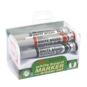 Whiteboardpenna Pentel Maxiflo, rund spets, utvalda färger