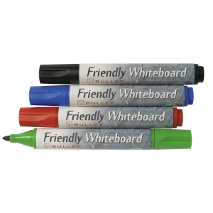 WHITEBOARDPENNA BALLOGRAF FRIENDLY WB RUND F UTV. FÄRGER 4 ST/FP