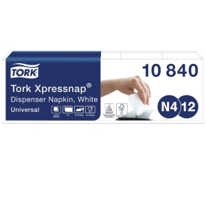 Servetter Tork 1-lager vit 10840 till dispenser n4 5x225 ark/fp